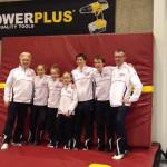Gymnasten en trainers