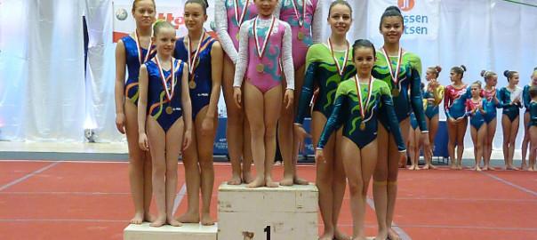 Demi Pynaerts, Asia Gulotto en Arissa Berckmans, brons