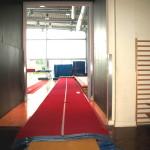 Aanloop (10 meter) Topwedstrijd Tumblingbaan ( 25 meter) in glasvezel, type Skakuunier