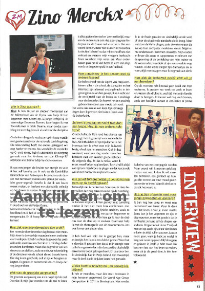 Artikel over Zino Merckx in GymTalk