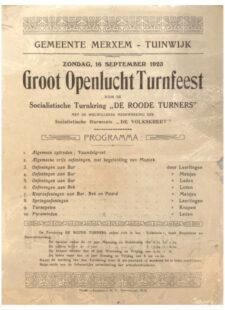 Groot Openlucht Turnfeest 1923